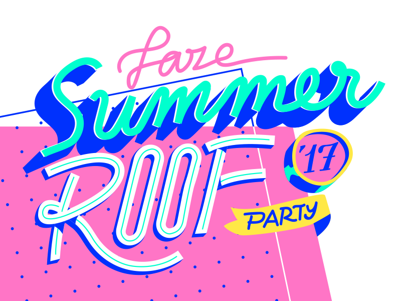 our studio's Summer Party! 17 beer roof party lettering typography summer