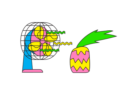 faze roof party '18 party hot air illustration vector pineapple summer fan
