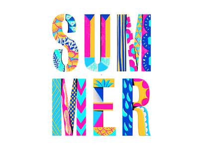 Summer vacation break design faze lettering typography summer