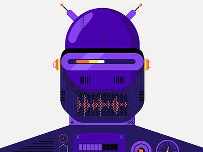 Robot styleframe character illustration robot bot artificialintelligence