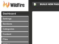 New Wildfire CMS Navigation