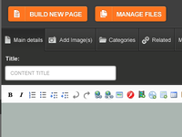 New Wildfire CMS Content Management Screen