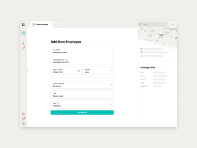 Add New Employee people hrms employee onboarding placeholder add new new patterns form