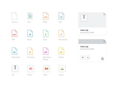 Attachment Icons zip pdf file generic attach kayako app web icons attachment