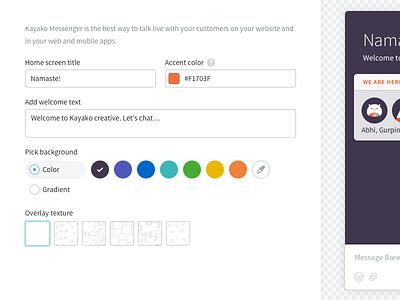 Configure screen admin configure messenger