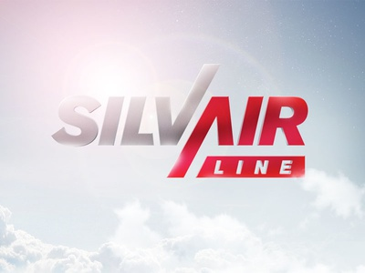 SilvAirLine logo sky logo silver airline red photoshop air clouds blue sun