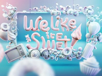 IceCandy website teaser sweet website concept icecandy ice 3d sugar candy