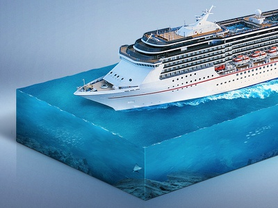 Cruise Ship Infographic I. infographic cruise ship retouch sea ocean blue