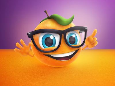 MemolifeKids illustration gum product glasses clever purple illustration orange