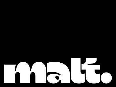 malt lettering lettering wordmark logo typeface display font typography design letters type