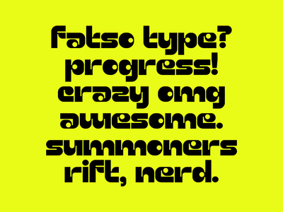 Fatso Type WIP