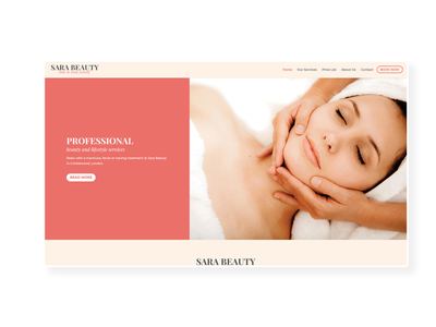 Sara Beauty  ➥ Web Design prestashop uiux beauty beauty salon ux design web design web development creative design