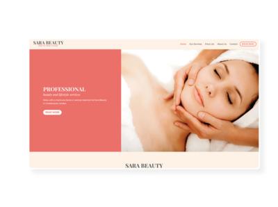 Sara Beauty  ➥ Web Design prestashop uiux beauty beauty salon ux design web design web development creative design