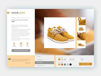 Shoe Manufacturer Product Page Design uidesign design wordpress web graphic design interface design ux design web design