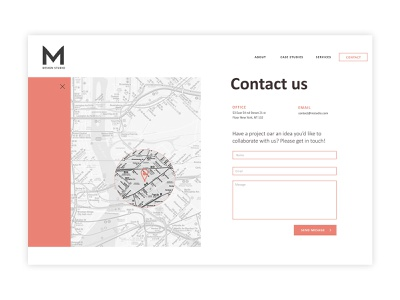 Contact page layout_01 colors creativedesign interface design web wordpress ux design web design