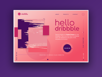 Hello Dribbble ► Web Design