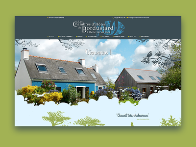 Les Chambres d'Hôtes de Bordustard Web Design travel wordpress ux design development ui design development agency web design