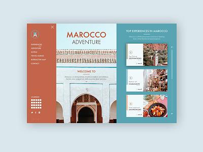 Marocco Adventure ► Web Design portofolio colors works flat typography inspiration web visual design web development web design minimalist