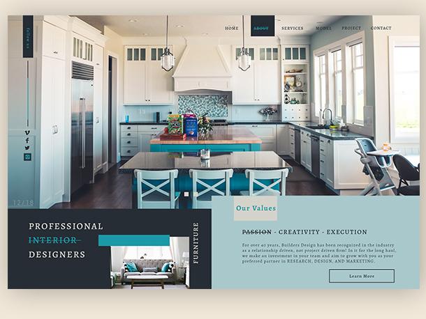Residential Interior Design ▻ Web Design