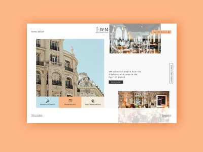 Hotel Group ► Web Design portofolio colors works flat typography inspiration web visual design web development web design minimalist ayout