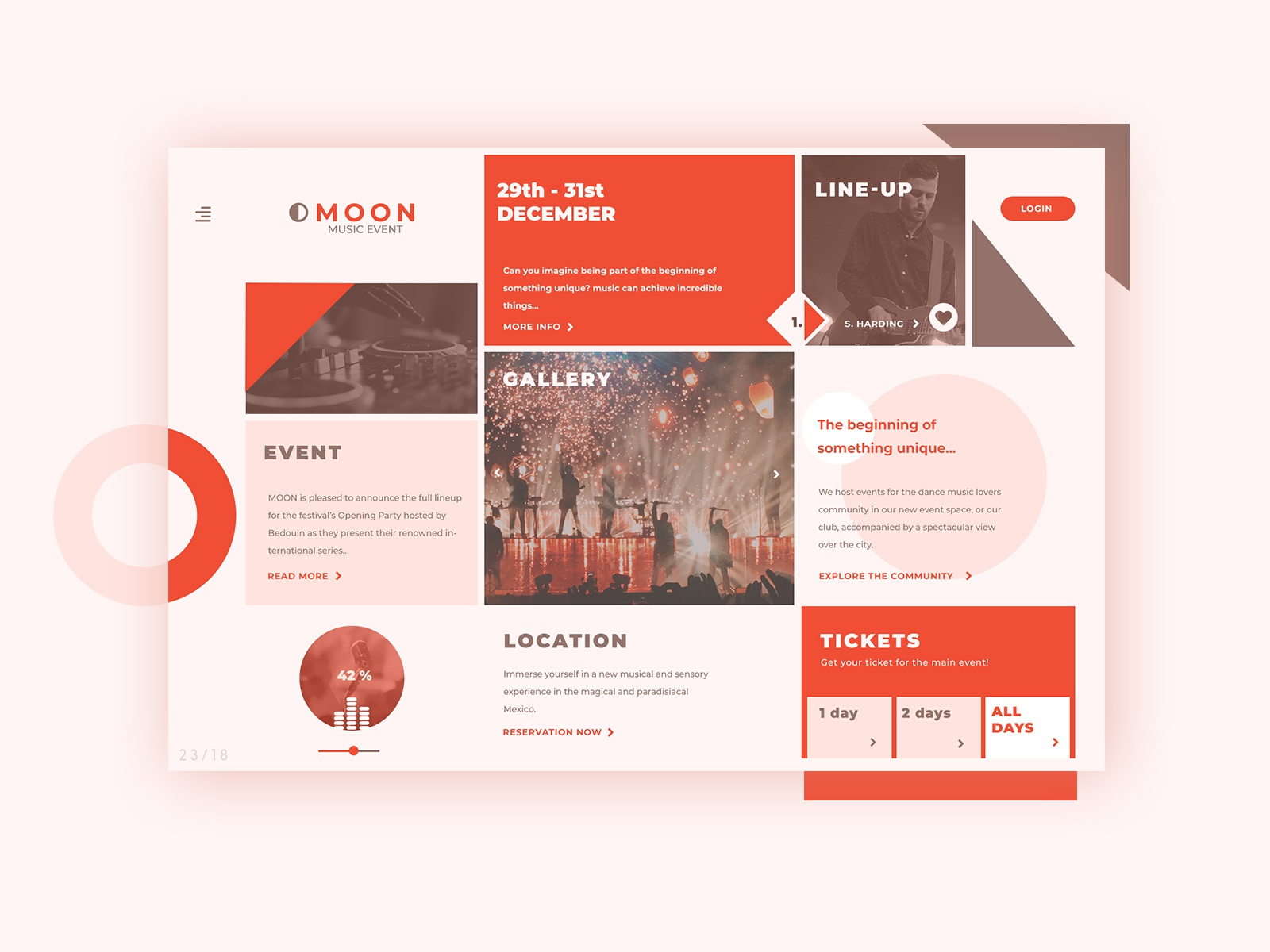 Web design concepts 23 18 event homepage
