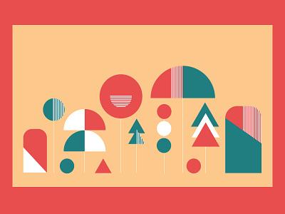 ⚘ Minimalistic llustrations ⚘ Plants vector design flat minimalism inspiration colors illustrations geometric illustration abstract color minimal art
