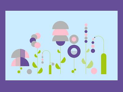 ⚘ Minimalistic llustrations ⚘ Flowers vector design flat minimalism inspiration colors illustrations geometric illustration abstract color minimal art