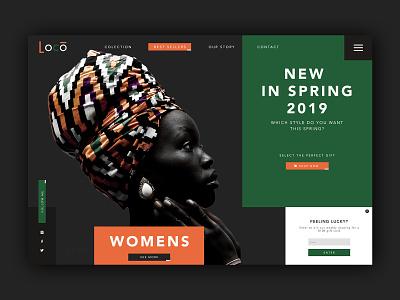 Fashion Shop Homepage ➥ Web Design portofolio colors works flat typography inspiration web visual design web development web design minimalist layout