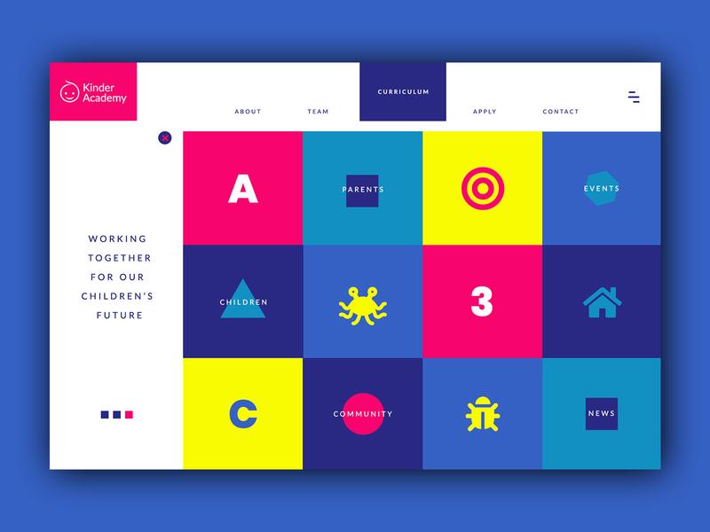 Kindergarten Homepage ➥ Web Design business children uidesigner uidesign typography inspiration web web development web design minimalist layout