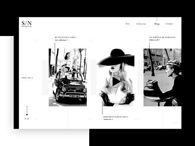 Women's Clothing ➥ Web Design brand clothing fashion woman black withe portofolio works flat typography inspiration web visual design web development web design minimalist layout