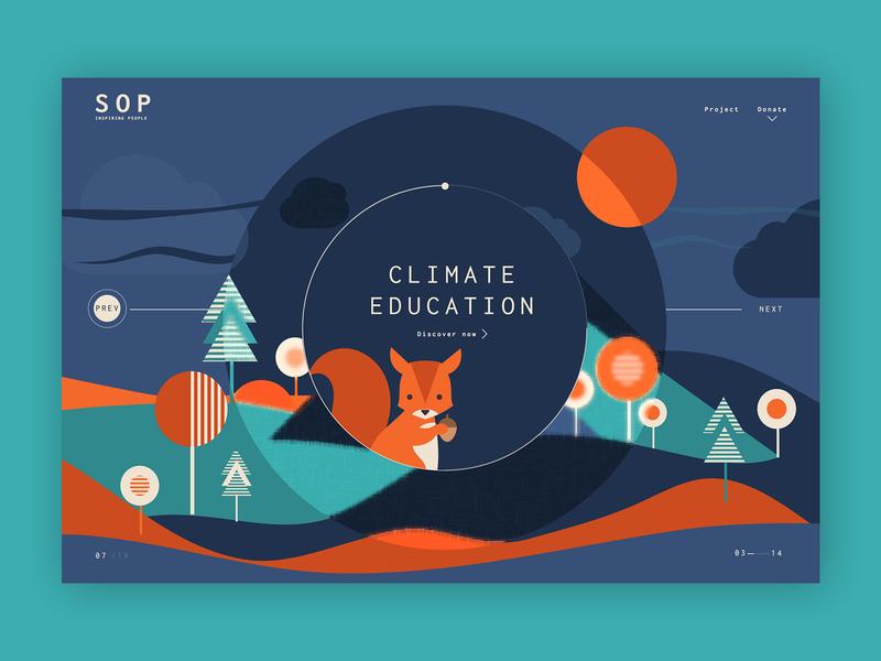 Saving Our Planet ➥ Web Design product page ilustration landing page designthinking uidesigner ui uidesign typography web visual design web design minimalist