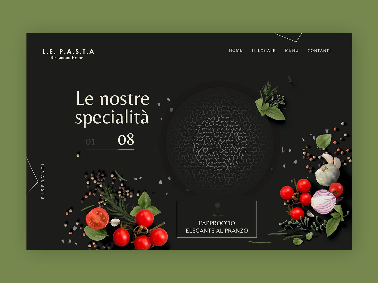 Retaurant pasta  web design concepts 010 19