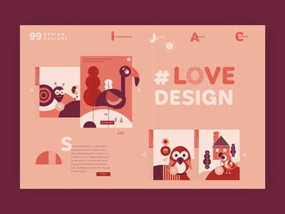 Freelance illustrator ➥ Web Design