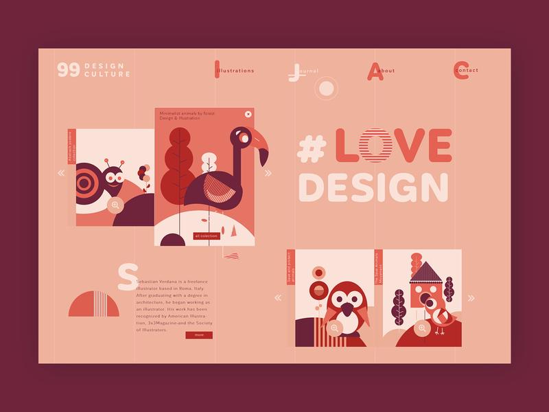 Freelance illustrator ➥ Web Design webdesigner web template ui uidesign web development colors design illustration graphic inspiration ux design web design