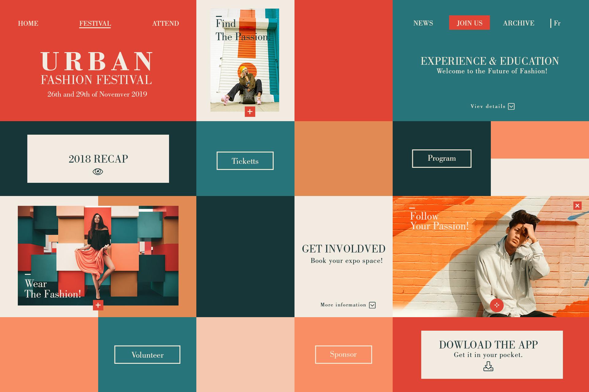 Urban fashion festival  webdesign concepts 015 19