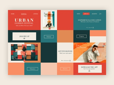 Urban Fashion Festival ➥ Web Design