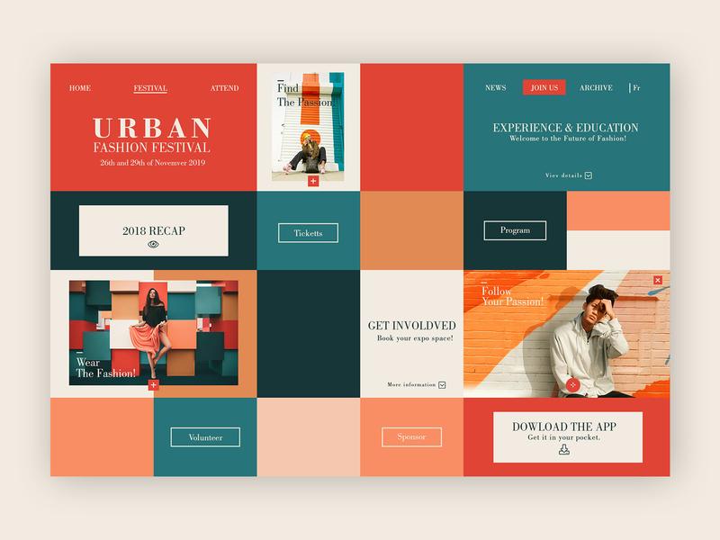 Urban Fashion Festival ➥ Web Design web webpage design landing page events fashion brand ui uidesigner uidesign website layouts homepage web designer webdesign fashion festival
