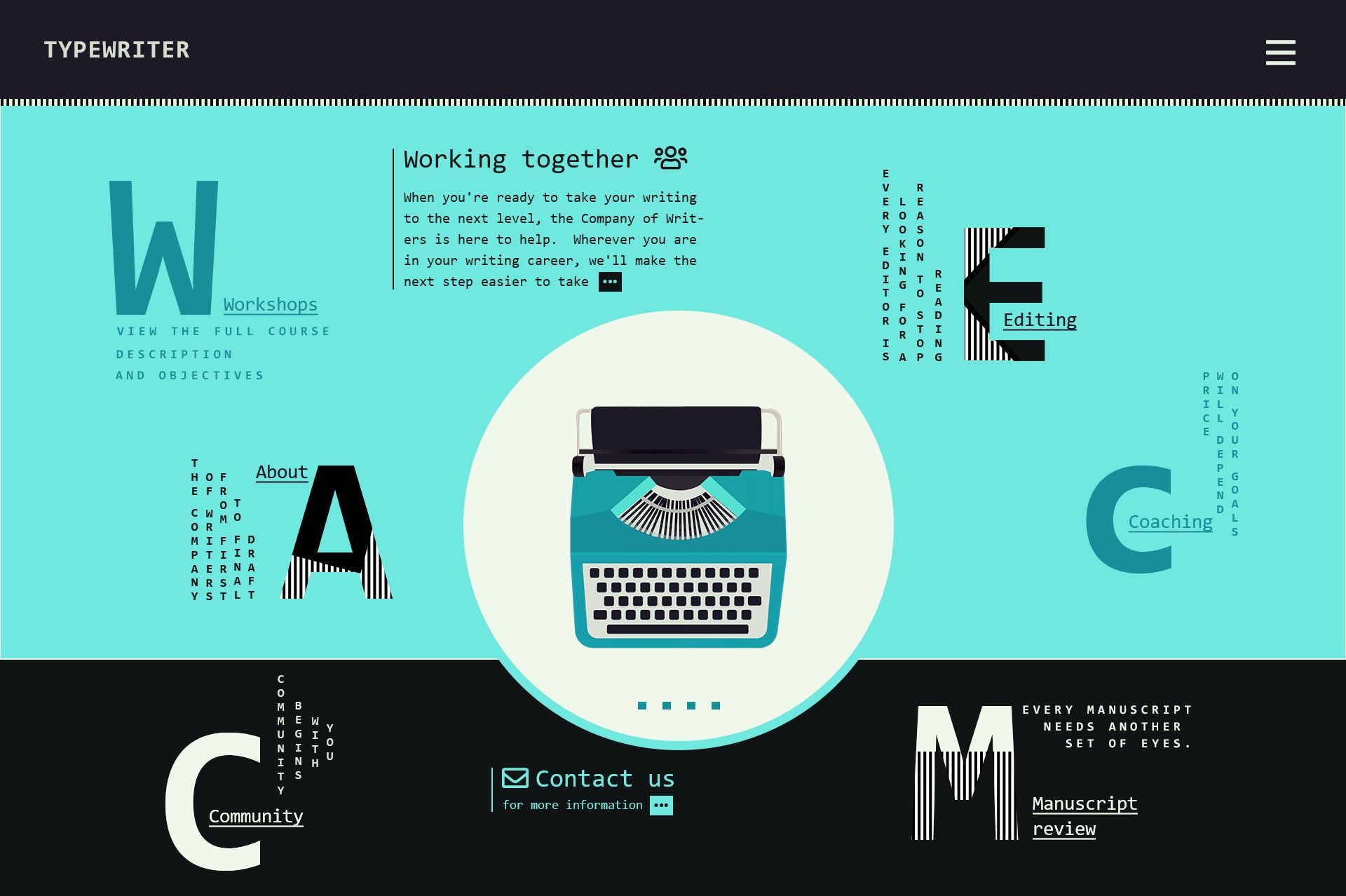 Typewriter company webdesign concepts 017 19