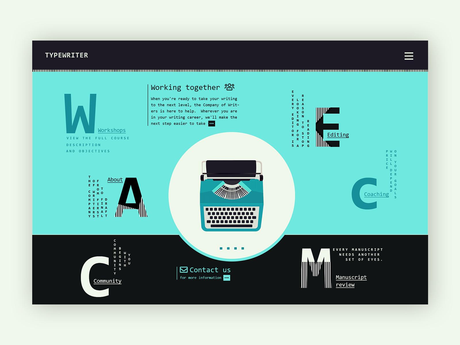 Typewriter company web design concepts 017 19