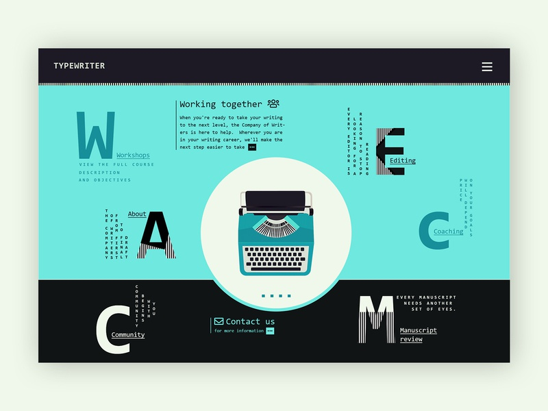Typewriter Company ➥ Web Design uidesigner uidesing ui webdesigner web company business wordpress webdesig website type creative design typewriter