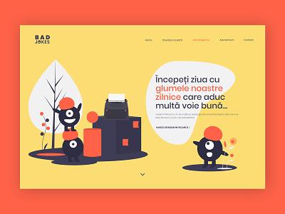 Bad Jokes Web Design website web illustraion uxuidesign uxui ux webpage webpage design wordpress graphic design inspiration design company colors ui uidesign illustration web design