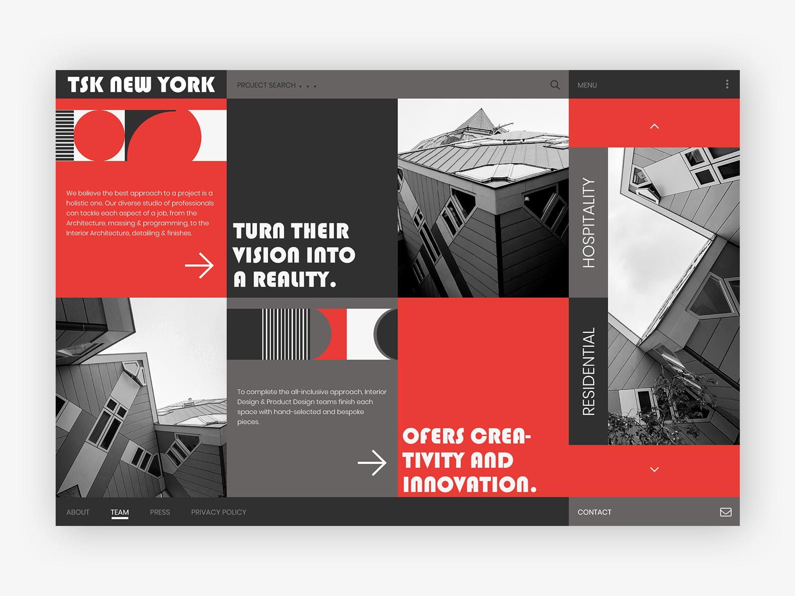 D architecture and interior design company webdesign concepts 018 19