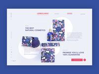 Organic beauty products ➥ Web Design