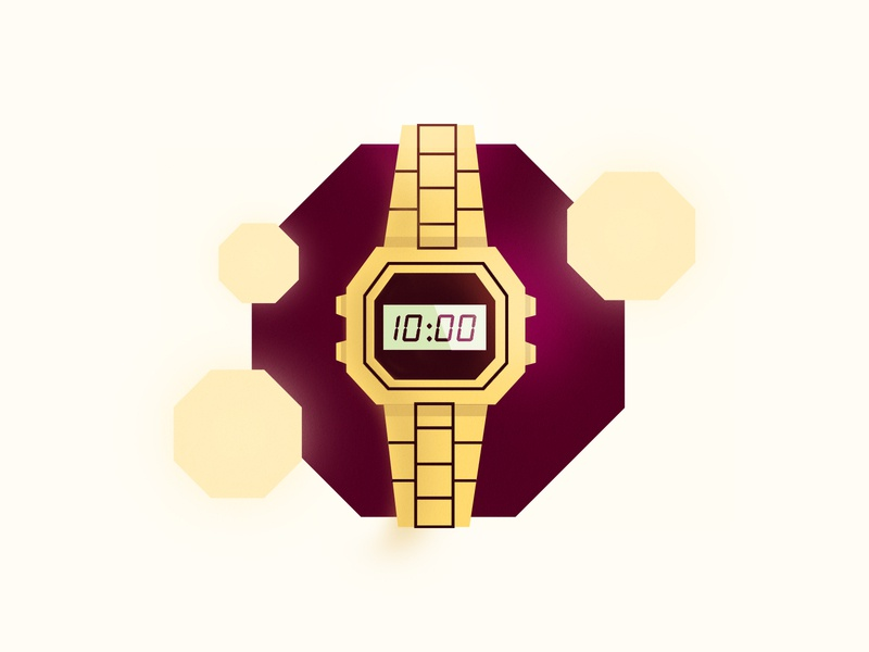 Retro Watch illustrator graphic design illustration