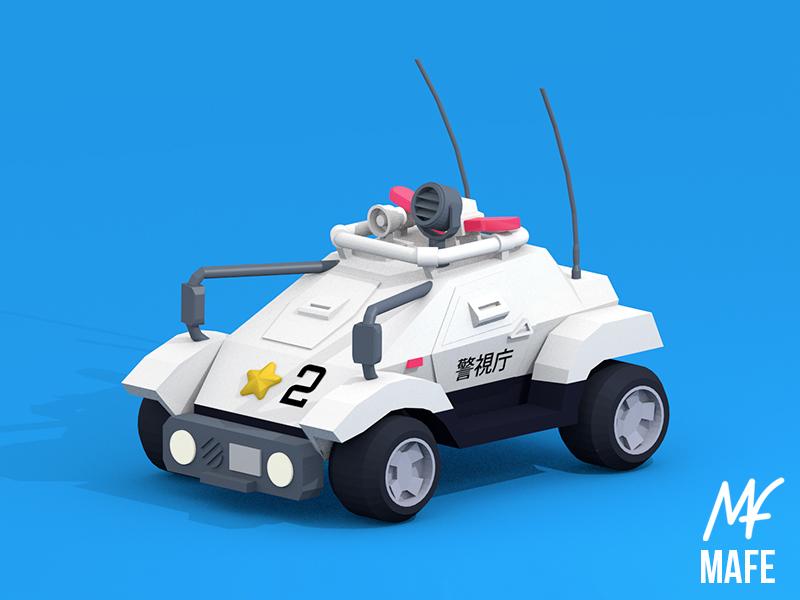 Patlabor Mobile Police blender 3d graphic design