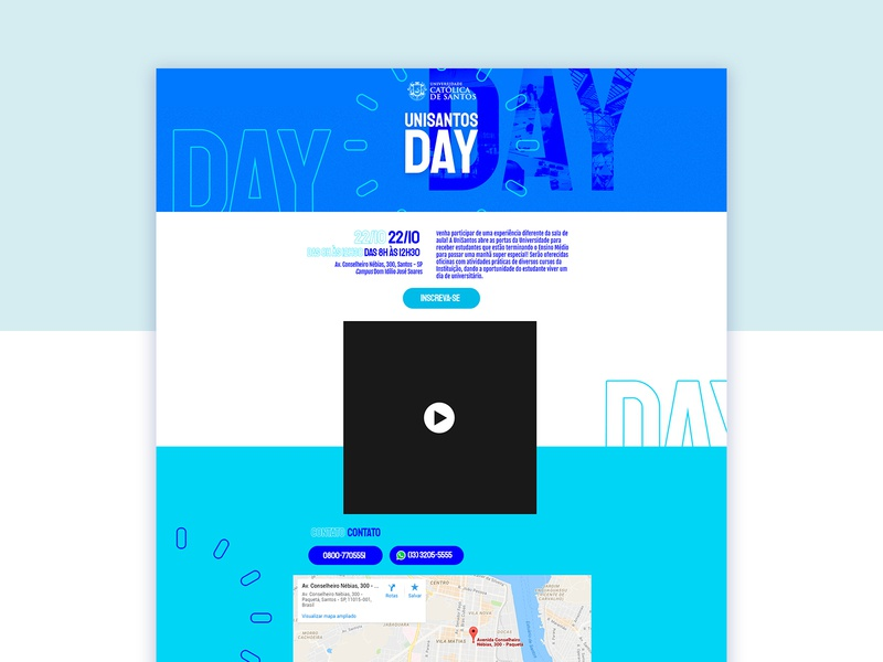 University Day Page design ui