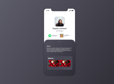 Daily UI Challenge 006 | User Profile userprofile 006 userinterfacedesign interface designui ux userinterface uidesign dailyuichallenge ui dailyui