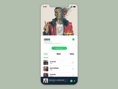 Daily UI Challenge 009 | Music Player designui ux music player ui music app interface uidesign userinterface design daily ui 009 dailyuichallenge ui dailyui