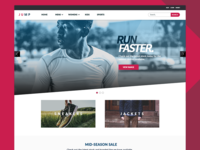 Ecommerce sport clothing store