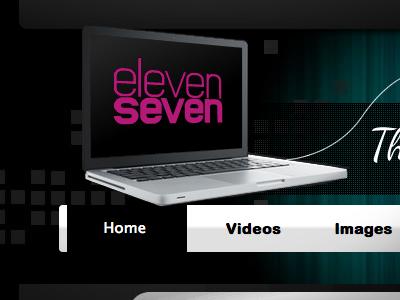 elevenseven.co.uk screenshot website future black pink